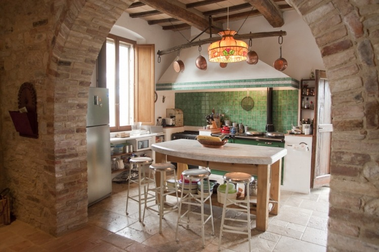 Kitchen at Il Mandorlo Guest House Italy